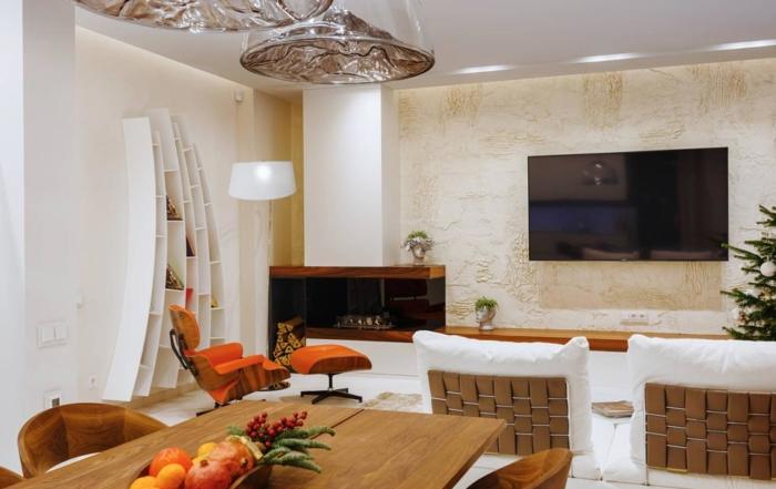 интерьер-гостиной-White appartment