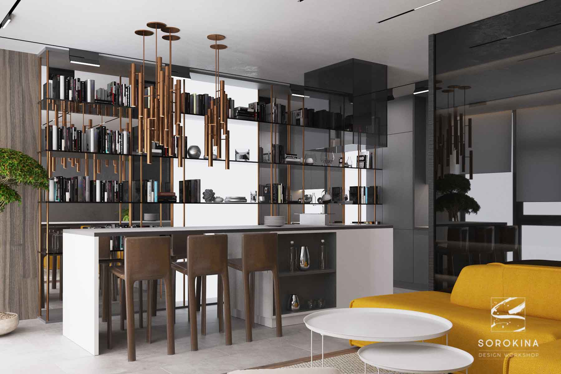 интерьер-кухни-1-Sea-view-apartment
