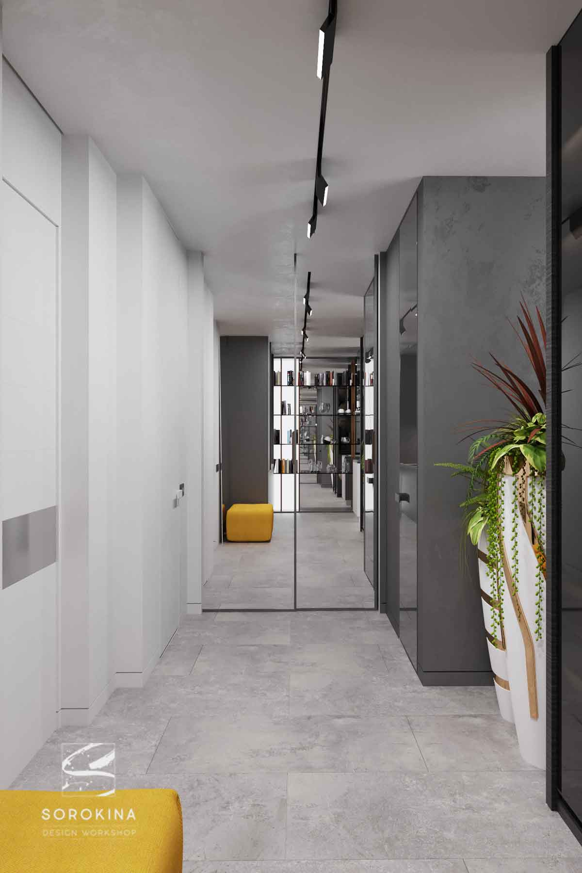 интерьер-прихожей-1-Sea-view-apartment