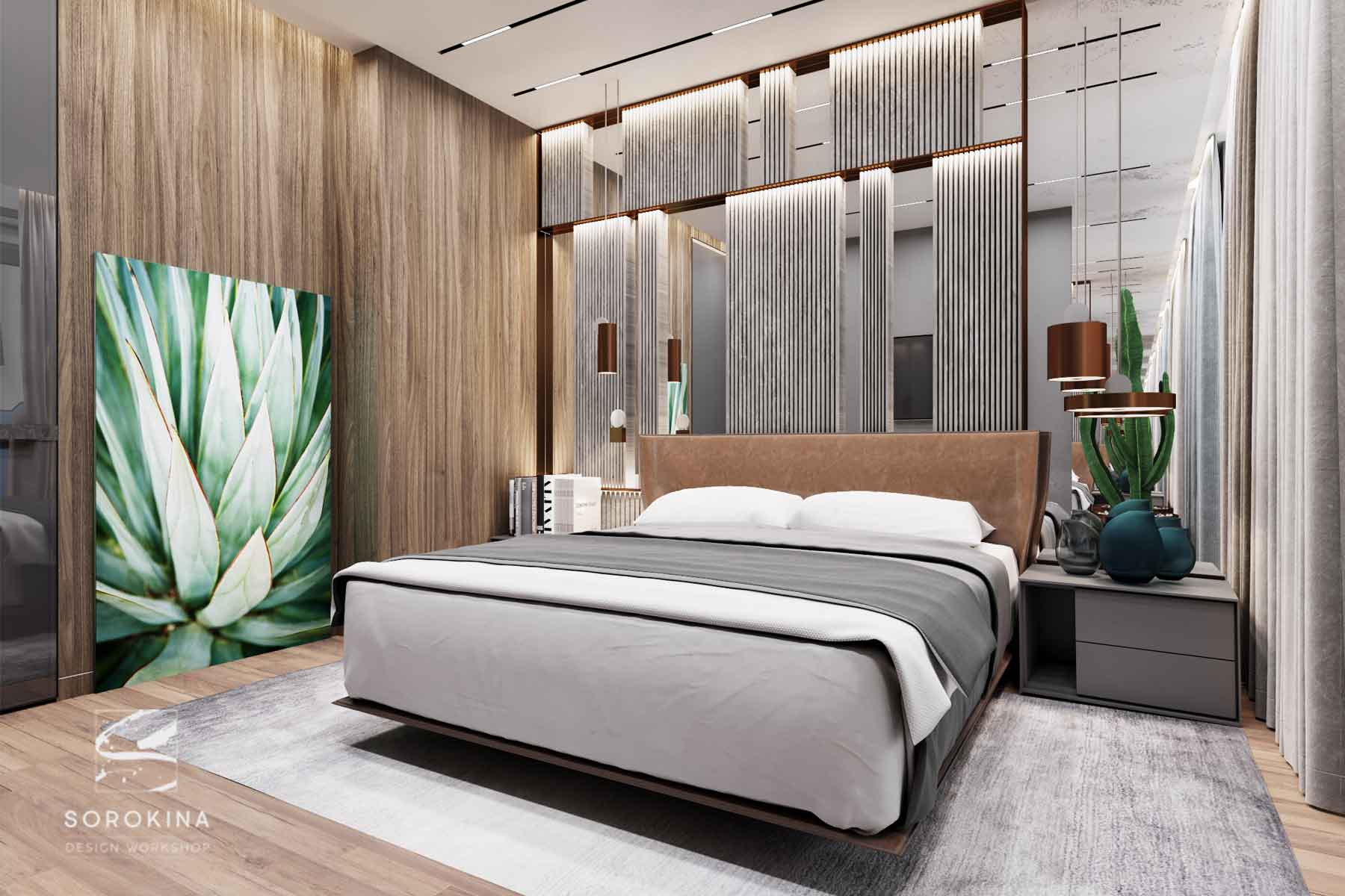 интерьер-спальни-Sea-view-apartment