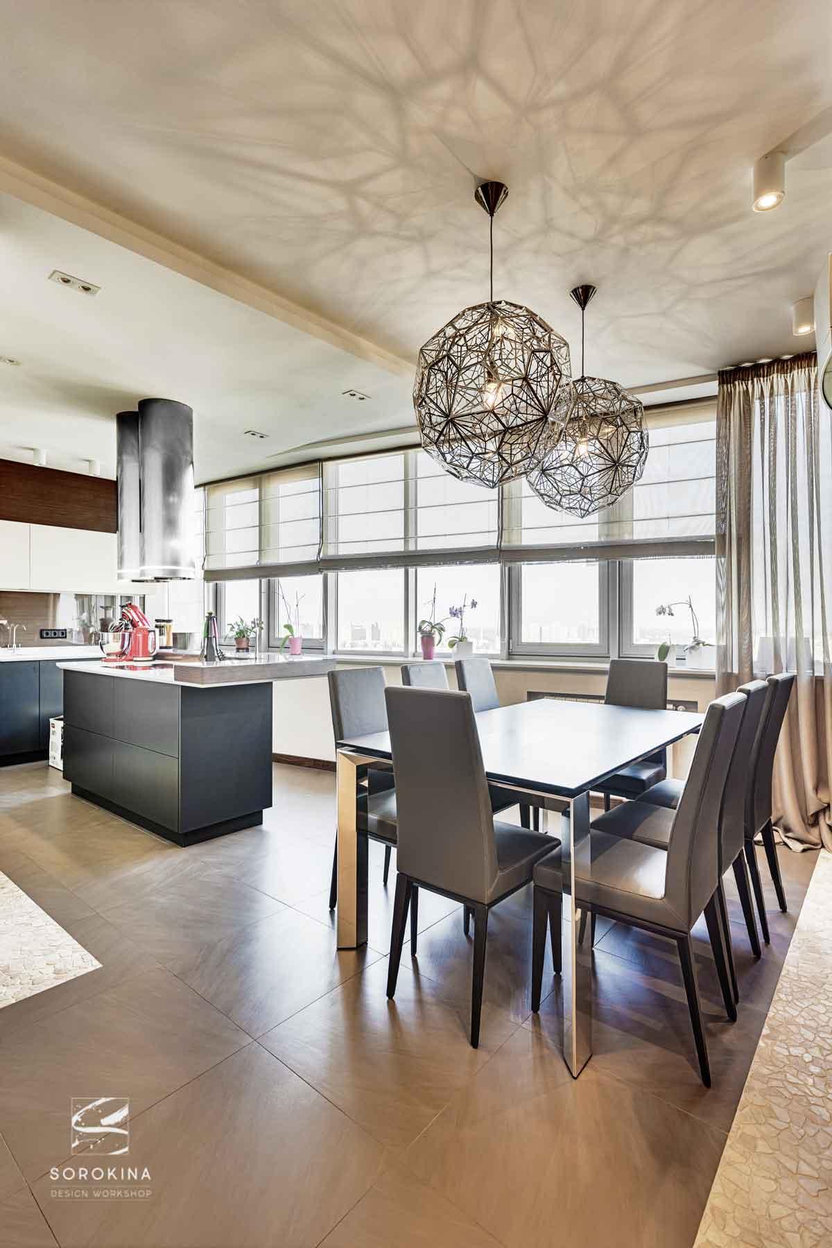 интерьер-столовой-Amber-wood-apartment