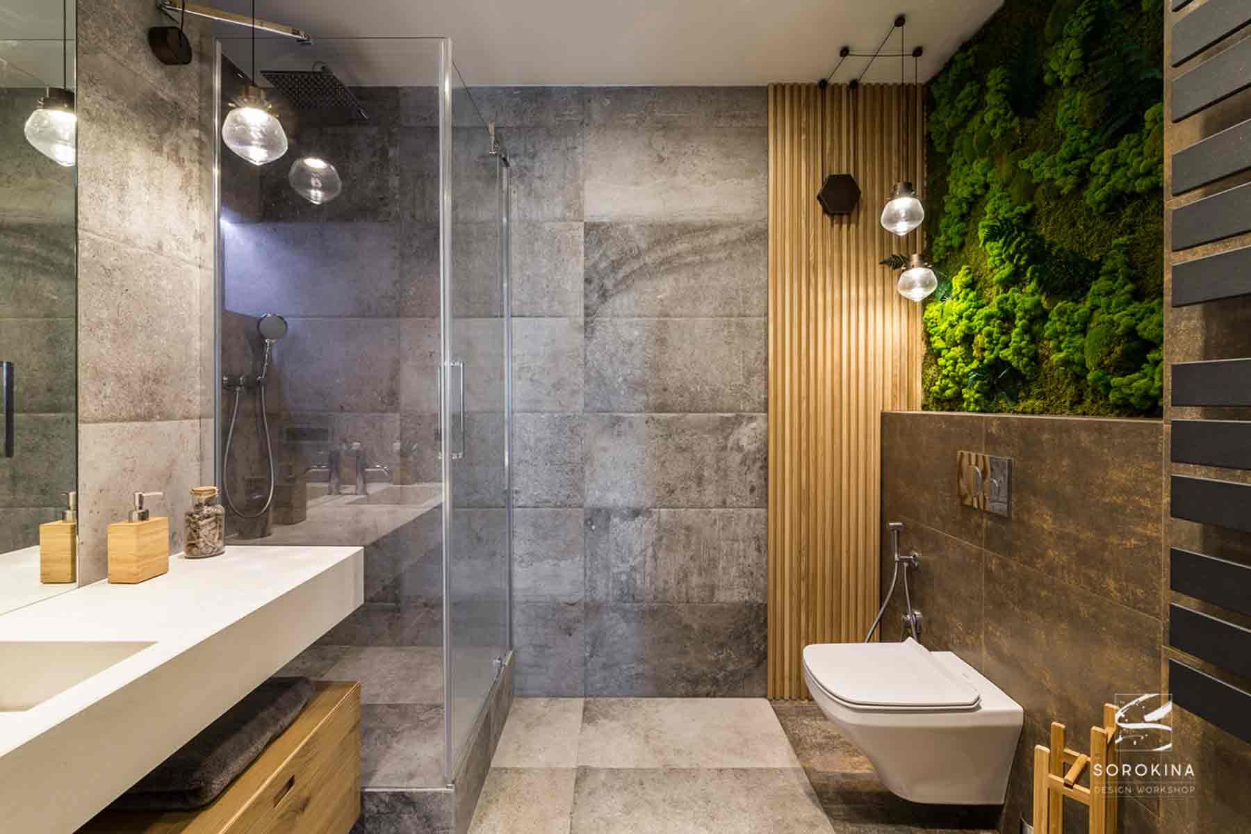 Дизайн-интерьера-ванной-Night-Forest
