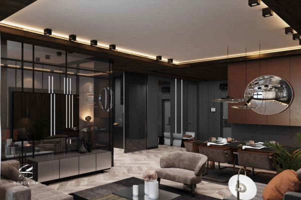 Дизайн-интерьера-гостиной-3-Грей-апартмент