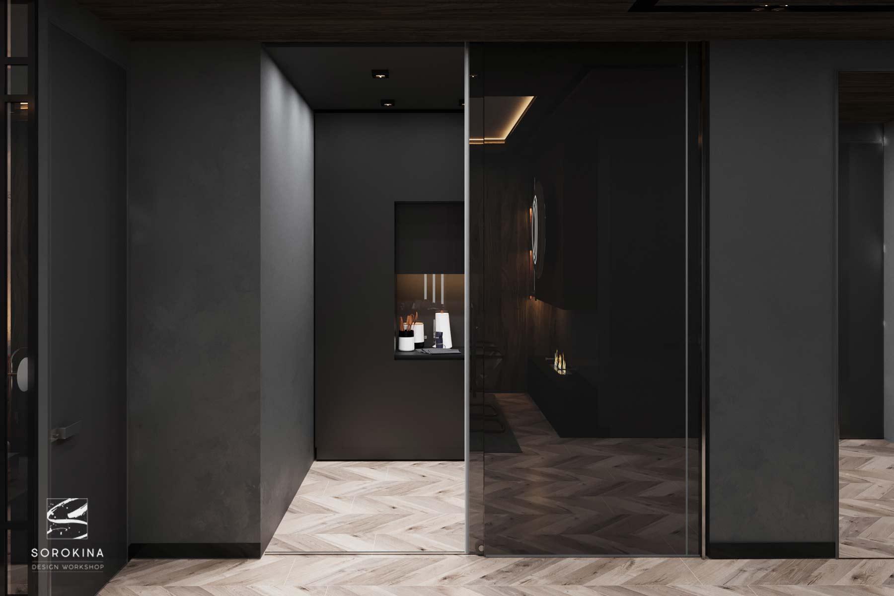 Дизайн-интерьера-прихожей-Грей-апартмент