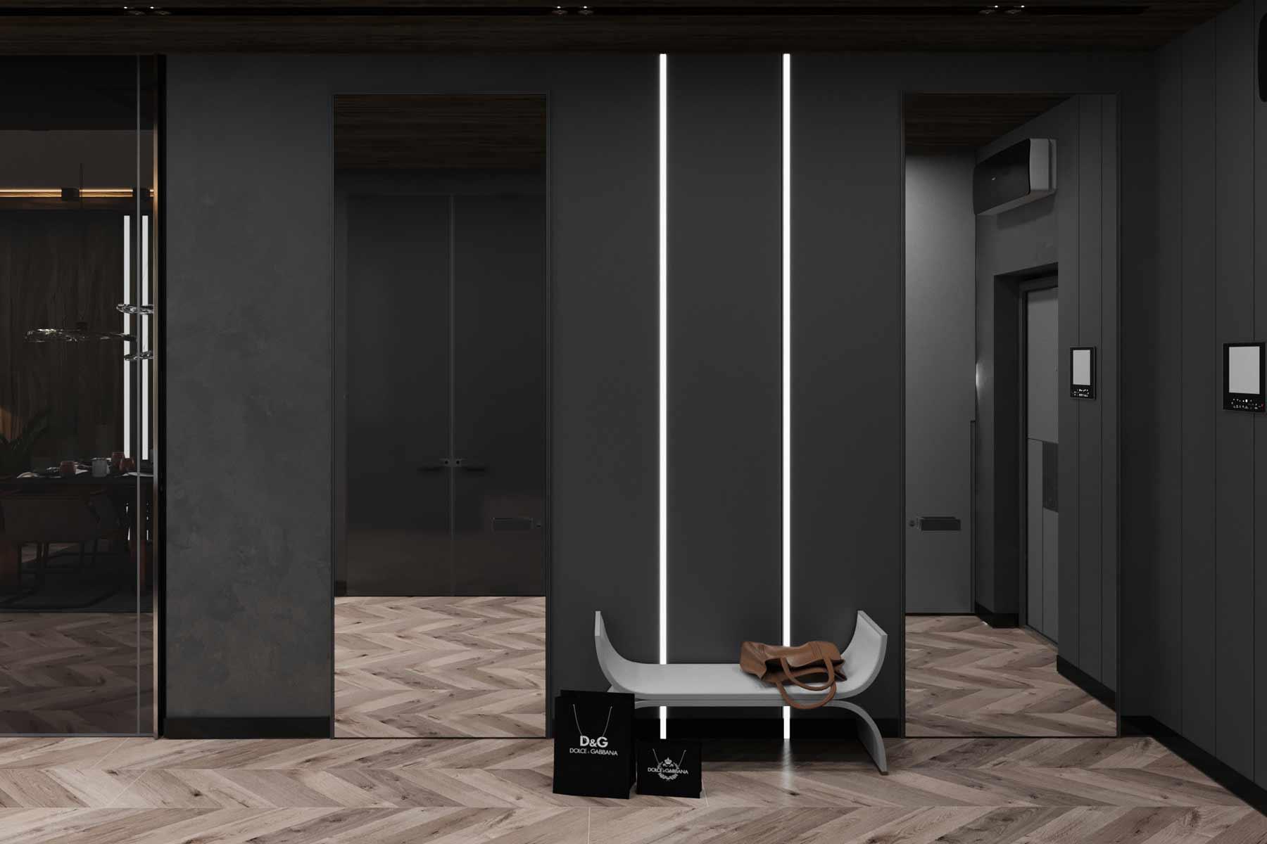 Дизайн-интерьера-прихожей-1-Грей-апартмент