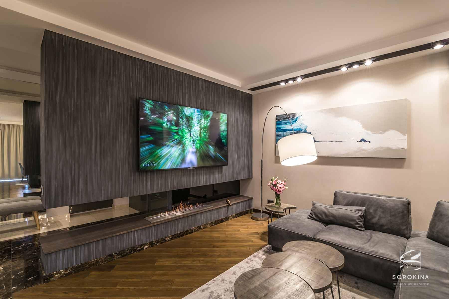 Дизайн-интерьера-современной-гостиной-Night-Forest