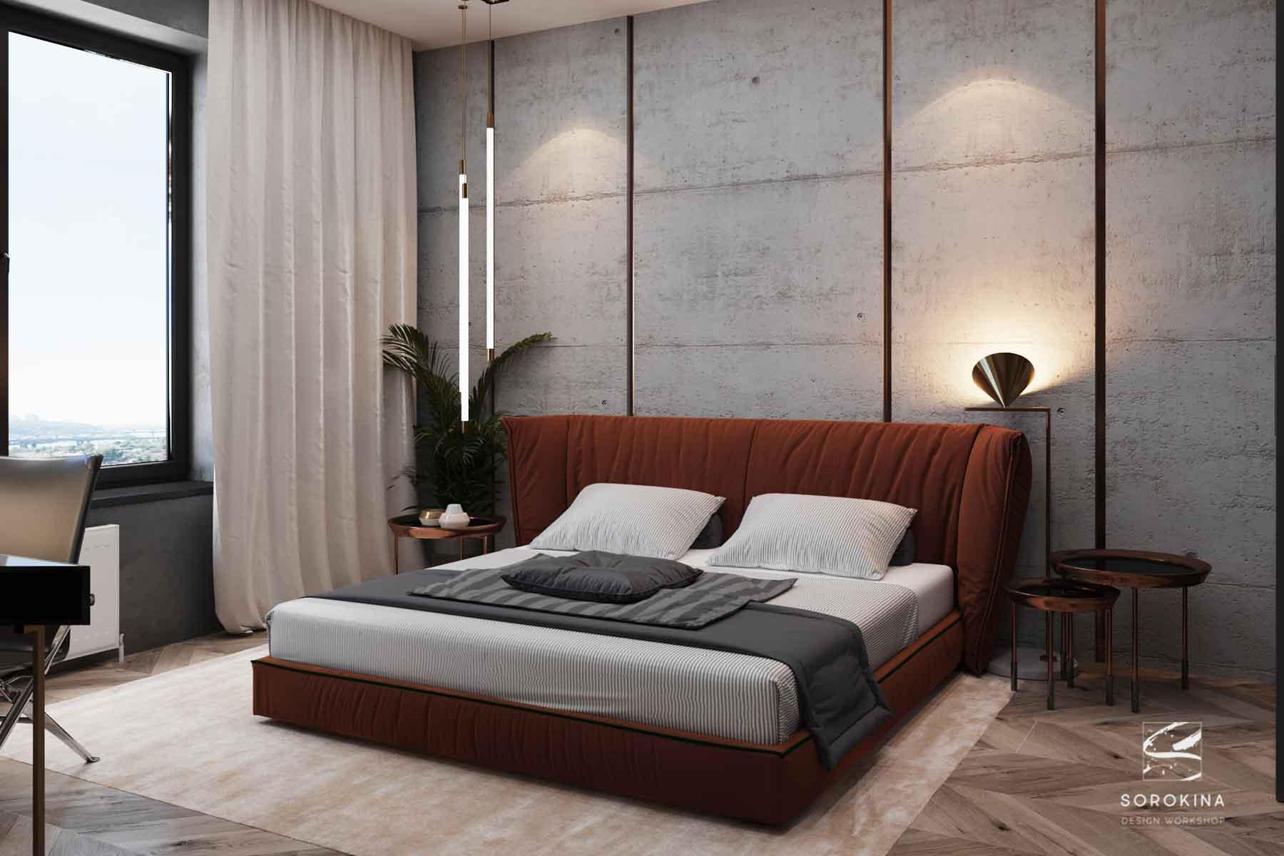 Дизайн-интерьера-спальни-1-Грей-апартмент