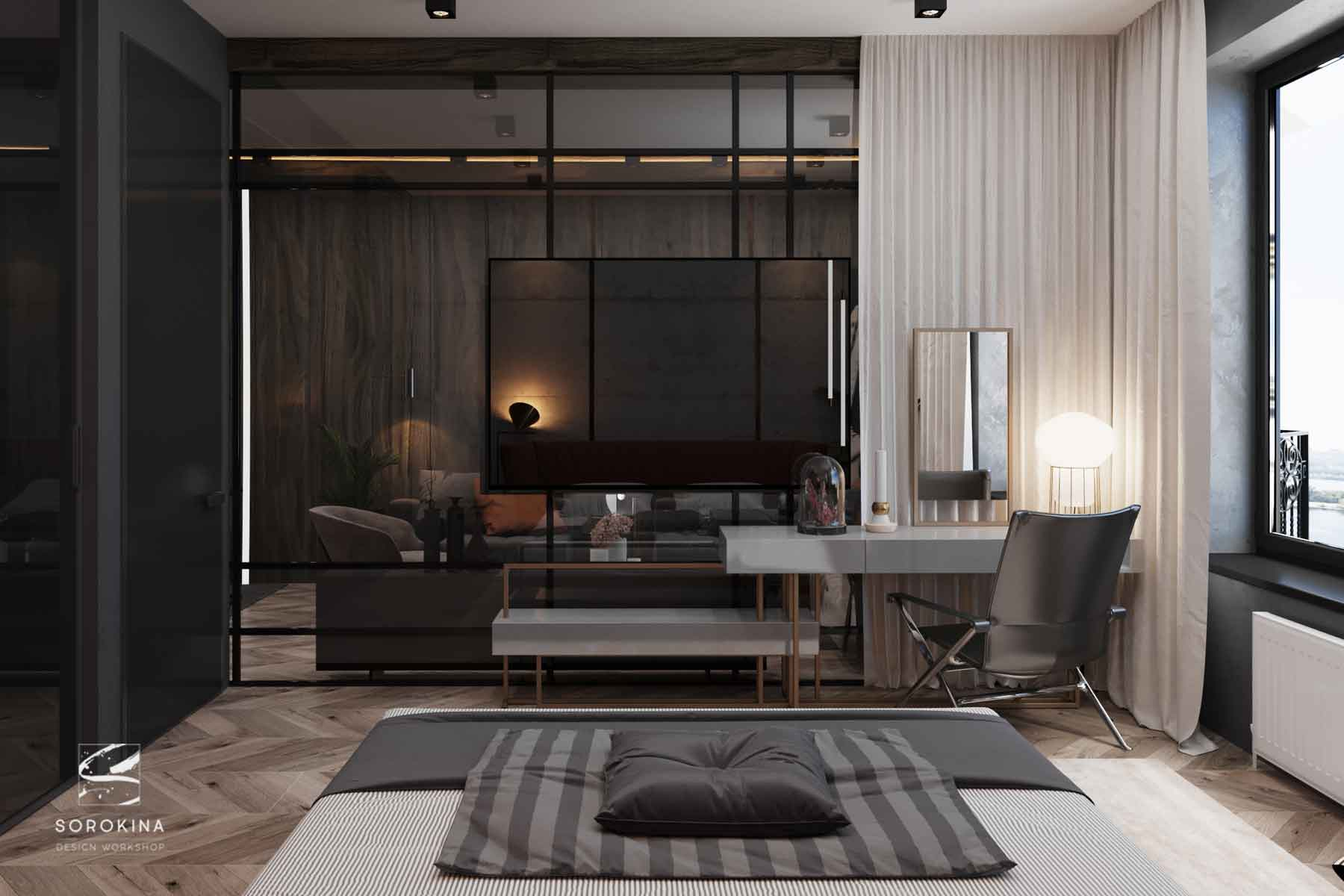 Дизайн-интерьера-спальни-2-Грей-апартмент