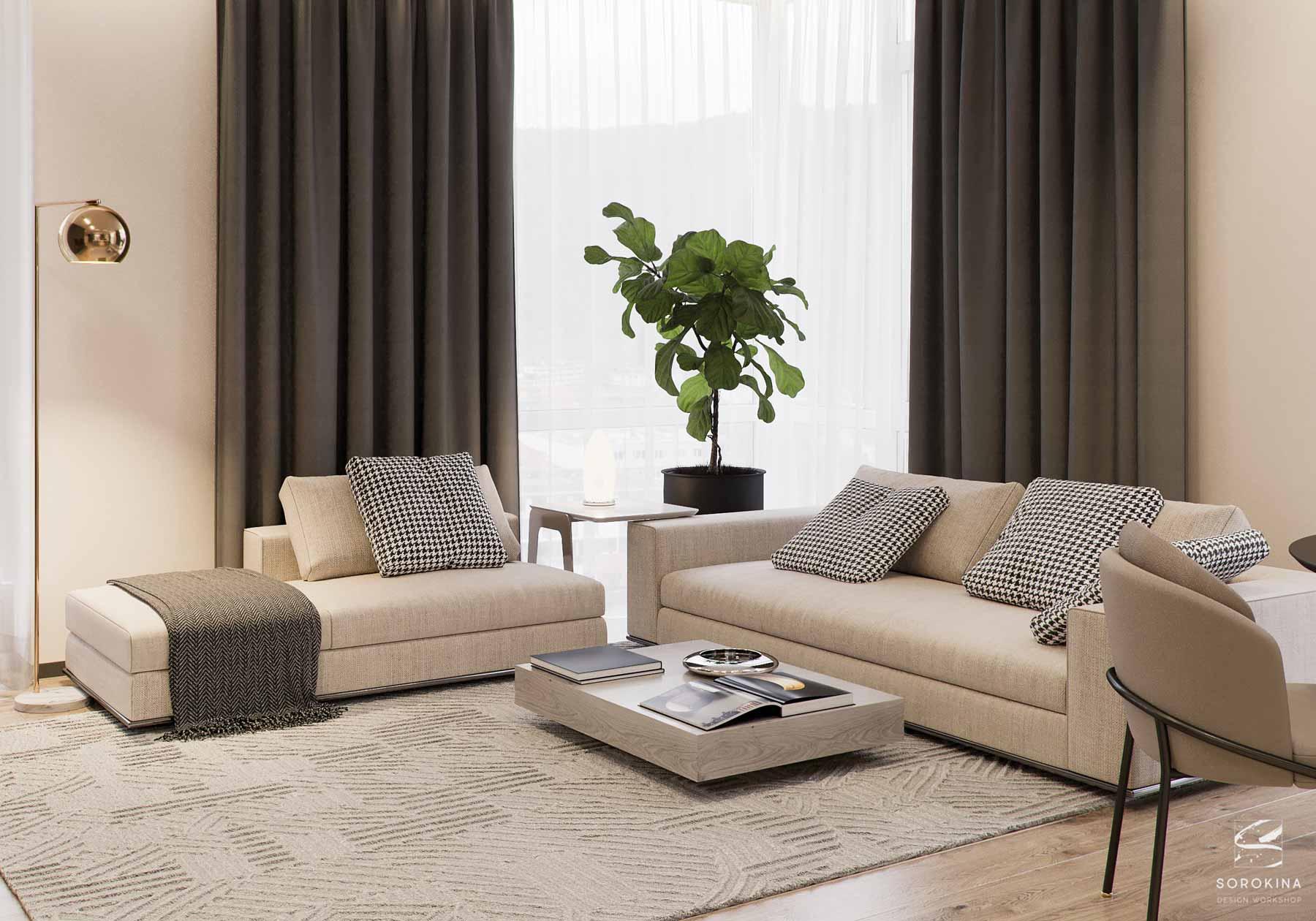 дизайн квартиры в современнном стиле